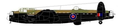 Avro Lancaster Profile © Malcolm Barrass
