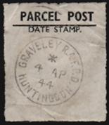 RAF Graveley Parcel Post Label [Courtesy of Phil Furner]